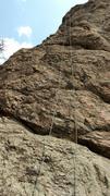 Rock Climbing Photo: Anchor set on Hobbit's Trail.