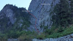Rock Climbing Photo: Climbing routes on Mount Harvey.