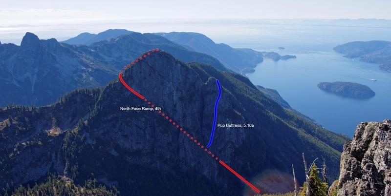 Rock Climbing Photo: Mount Harvey as seen from Brunswick Mountain