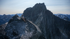Rock Climbing Photo: Looking at the rest of the route from the summit o...