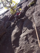 Rock Climbing Photo: Alex just passed the start on Applied Magnetics