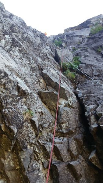 Rock Climbing Photo: The beginning of pitch 3