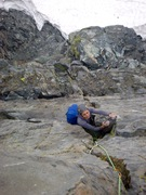 Rock Climbing Photo: Resting on an island midway up P2.