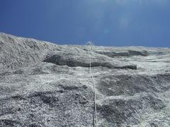 Rock Climbing Photo: Bill McConachie leading p2, Bull Dozier, Dozier Do...