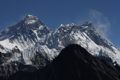Rock Climbing Photo: Mt Everest, Lhotse and Nuptse