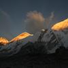 Sunset light on Nuptse from Gorakshep
