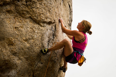 Rock Climbing Photo: Hannah giving this classic a run for its onsight m...
