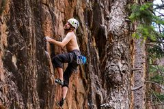 Rock Climbing Photo: Jacob enjoying one of the 5.10s on the right side ...