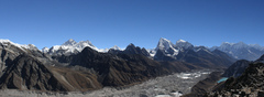 Rock Climbing Photo: Panorama of Khumbu region from summit of Gokyo Ri