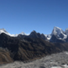 Panorama of Khumbu region from summit of Gokyo Ri