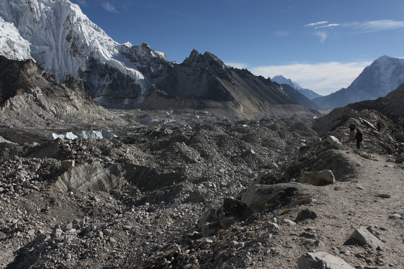 Khumbu glacier near Everest basecamp