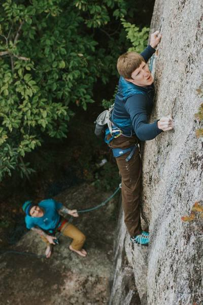 Great shot (by Steph Chad) of Alec on Worlds... I'm on belay