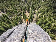 Rock Climbing Photo: Beautiful day in the Gallatin Canyon on Spare Rib,...