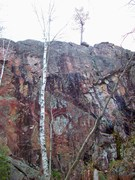 Rock Climbing Photo: Tongue thruster, Pulpit's west face