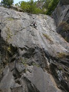 Rock Climbing Photo: First time on this route. Fun, cool moves, long ro...