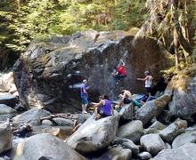 Lovely river boulder.