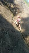 Rock Climbing Photo: the small overhang on Freddie's dead, plenty of pl...