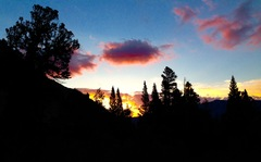 Rock Climbing Photo: North Lake sunrise while approaching Emerson!
