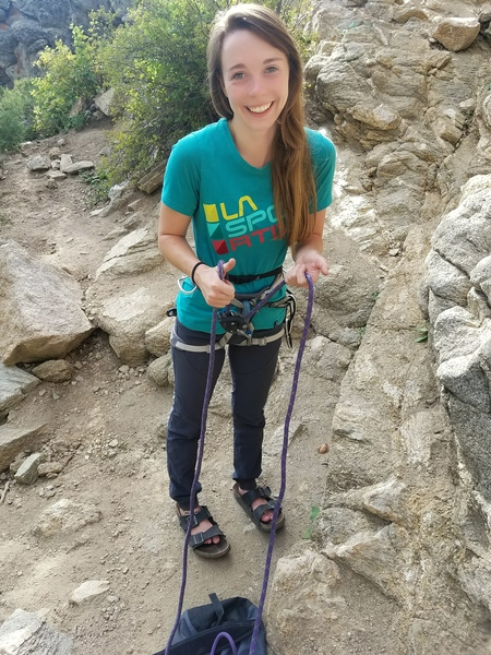 Belaying in Boulder Canyon