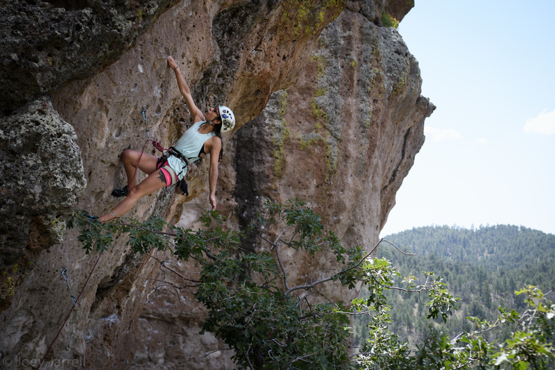 Markie on Thumper, her first 5.11b/c