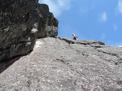 Rock Climbing Photo: Getting ready to clean after Kiersten's lead.   ...
