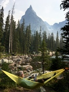 If you get a permit, there are some spectacular campsites near the base.