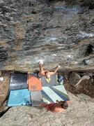 Rock Climbing Photo: J. Christopher on the FA