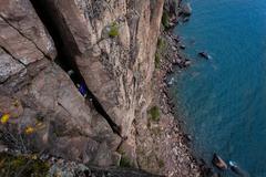 Rock Climbing Photo: Lan and Kristina on Iron Maiden