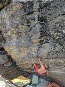 Rock Climbing Photo: K. Redberg on the FA
