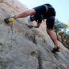 Mountain Sense Development.com - Gabriele Ciampi, Trad Lead Climbing in Saddle Peak