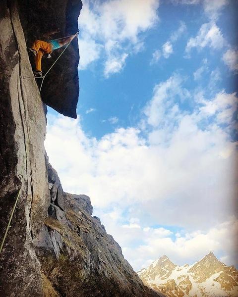 Rock Climbing Photo: Mr Giraldo contemplating lip pinches