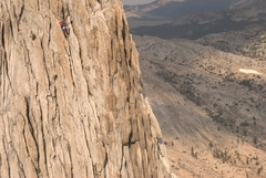 Rock Climbing Photo: Pat makes his way up the North Pillar - one of the...