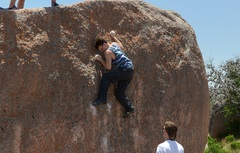 Rock Climbing Photo: sorry i had no pictures for the start of the route