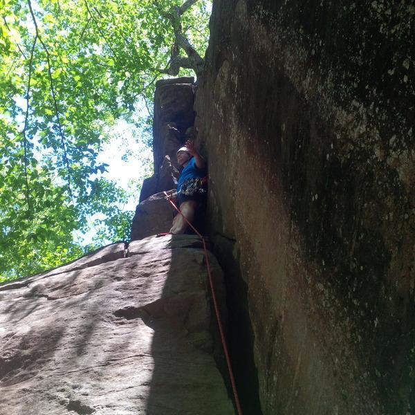 Kyle's Corner ledge before the steeper finish.