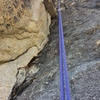 Looking up at lower dihedral (about halfway through pitch 1)