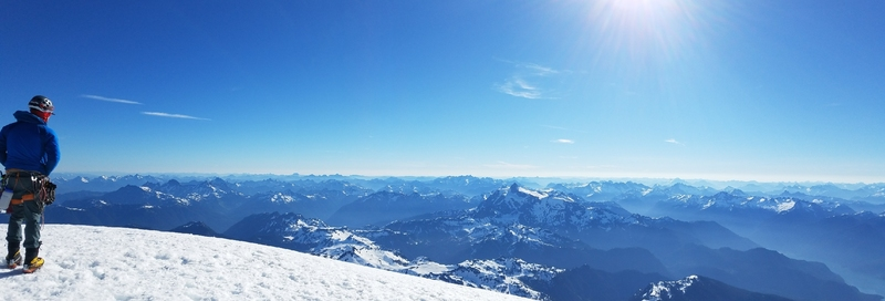 From the summit of Mt Baker