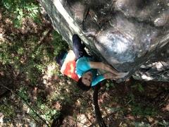 Rock Climbing Photo: 40 feet right of I See the Bucket aka Slabracadabr...