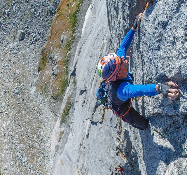 Getting over the crux of pitch 5