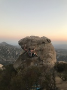 Rock Climbing Photo: Sunset sesh on big horn.