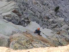 Rock Climbing Photo: Esteban Lardone on the 10c Fingers pitch, money!