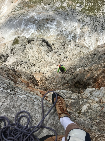 Rock Climbing Photo: Typical Dolomite's climbing.  Vertical jug hauling...