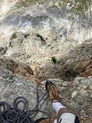 Rock Climbing Photo: Typical Dolomite's climbing.  Vertical jug hauling...