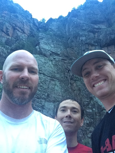 Aaron Collins, Bob Pettit and Dalylon Robinaugh after their FA of The Night's Watch 5.7 Christopher Creek Gorge AZ