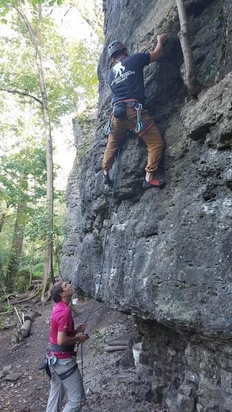 Steve climbing 6 Pack