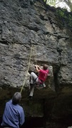 Carl climbing Scrappy