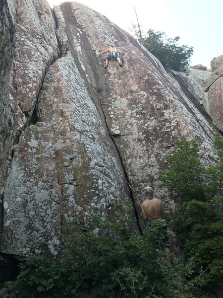 Placing gear after the crux