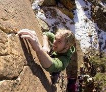 Rock Climbing Photo: Sky Pilot, 5.12-.