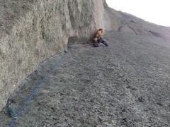 Rock Climbing Photo: Bdog sending the Red Spear