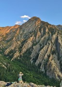 Rock Climbing Photo: Storm Mountain and its north ridges, Big Cottonwoo...