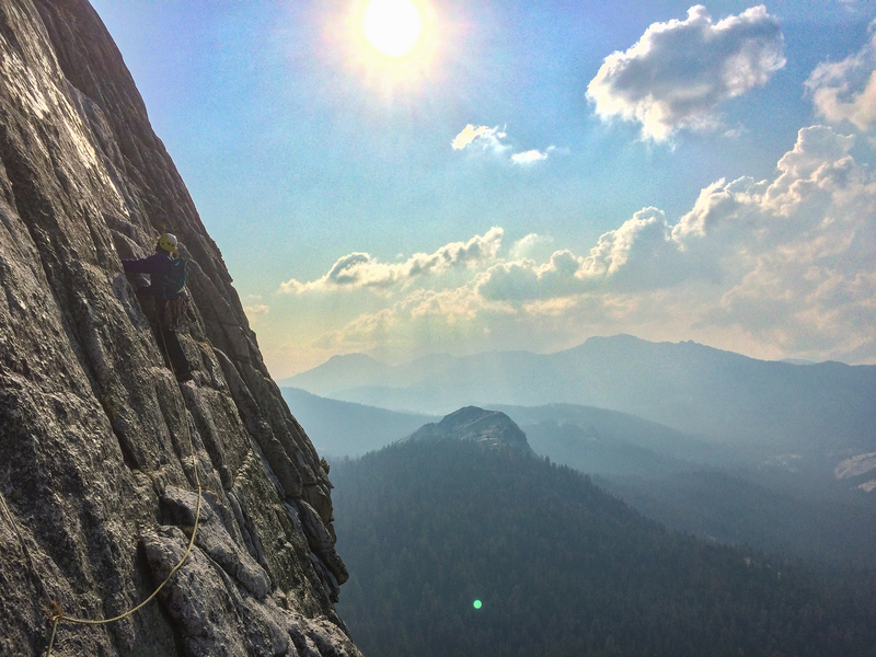 Rock Climbing Photo: Leading out into the upper (easier) sections of th...